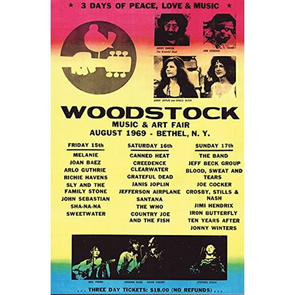 Woodstock Poster Line Up